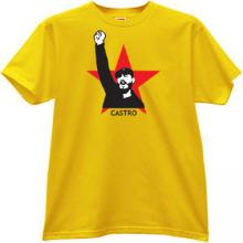 CASTRO Russian Leader T-shirt in yellow