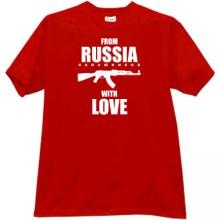 From Russia with Love (Kalashnikov) Cool Russian T-shirt in red