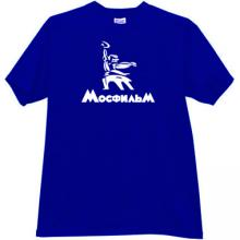 MOSFILM New Logo Russian Film Studio T-shirt in blue