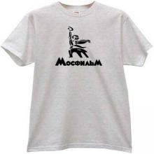 MOSFILM New Logo Russian Film Studio T-shirt in gray