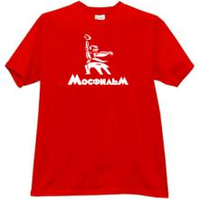 MOSFILM New Logo Russian Film Studio T-shirt in red