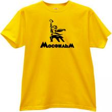 MOSFILM New Logo Russian Film Studio T-shirt in yellow