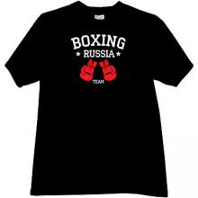 Boxing Team Russia T-shirt in black
