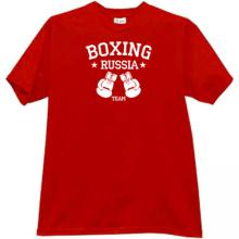 Boxing Team Russia T-shirt in red