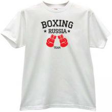 Boxing Team Russia T-shirt in white