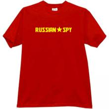New Russian Spy Cool T-shirt in red