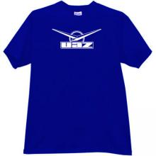 UAZ Logo Russian off-road auto t-shirt in blue