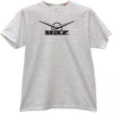 UAZ Logo Russian off-road auto t-shirt in gray