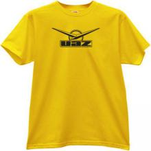 UAZ Logo Russian off-road auto t-shirt in yellow