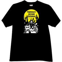 Nightmare Before Christmas T-shirt in black