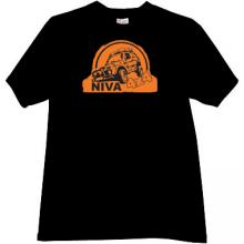 NIVA 4x4 Russian Car t-shirt in black