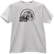 NIVA 4x4 Russian Car t-shirt in gray