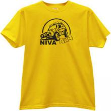 NIVA 4x4 Russian Car t-shirt in yellow
