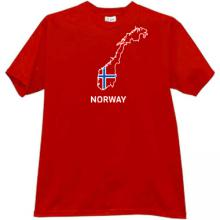 Norway T-shirt in red