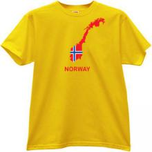 Norway T-shirt in yellow