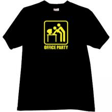 Office Party Funny T-shirt in black