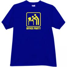 Office Party Funny T-shirt in blue
