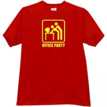 Office Party Funny T-shirt in red