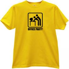 Office Party Funny T-shirt in yellow