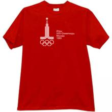 1980 Summer Olympics in Moscow T-shirt in red