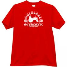 Original Authentic Country Style Funny T-shirt in red