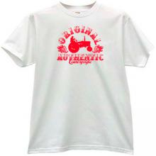 Original Authentic Country Style Funny T-shirt in white