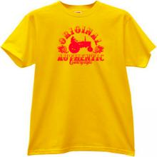Original Authentic Country Style Funny T-shirt in yellow