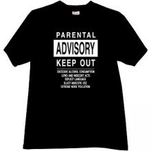 PARENTAL ADVISORY Funny T-shirt