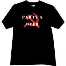 Party s Over T-shirt in black