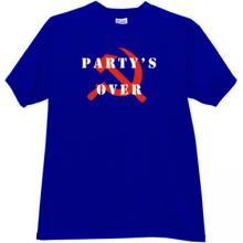 Party s Over T-shirt in blue