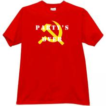 Party s Over T-shirt in red