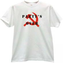 Party s Over T-shirt in white