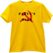 Party s Over T-shirt in yellow