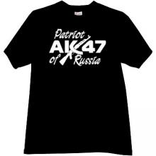 Patriot of Russia AK-47 Cool T-shirt in black