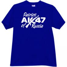 Patriot of Russia AK-47 Cool T-shirt in blue