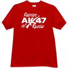 Patriot of Russia AK-47 Cool T-shirt in red