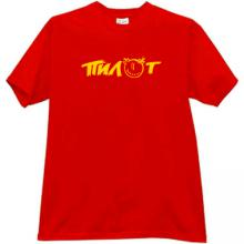 Pilot Russian rock band T-shirt in red