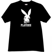 Playnin Funny Russian Lenin Parody T-shirt in black
