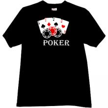 Cards and Chips Poker black T-shirt