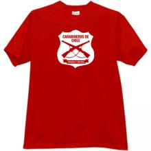 Carabineros de Chile T-shirt in red