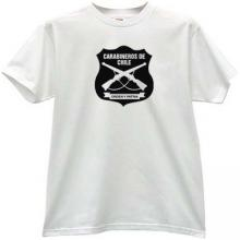 Carabineros de Chile T-shirt in white