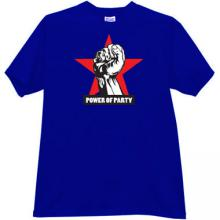 Power of Party Russian T-shirt in blue