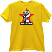 Power of Party Russian T-shirt in yellow