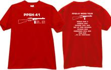 PPSh - 41 World Tour Cool Weapon T-shirt in red