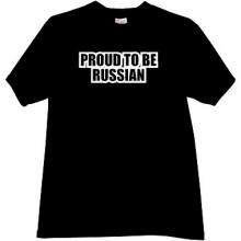 Proud to be Russian Cool T-shirt in black