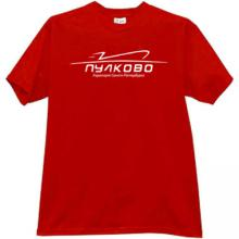Pulkovo Saint Petersburg Airport T-shirt in red ru