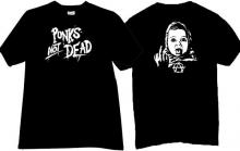 Punks Not Dead Funny Music T-shirt in black