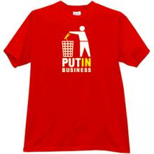PUTIN Business Funny T-shirt in red