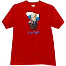 Vladimir Putin Russian funny caricature T-shirt in red