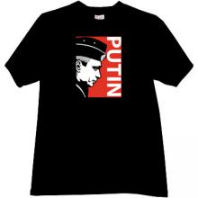 PUTIN Russian President T-shirt in black